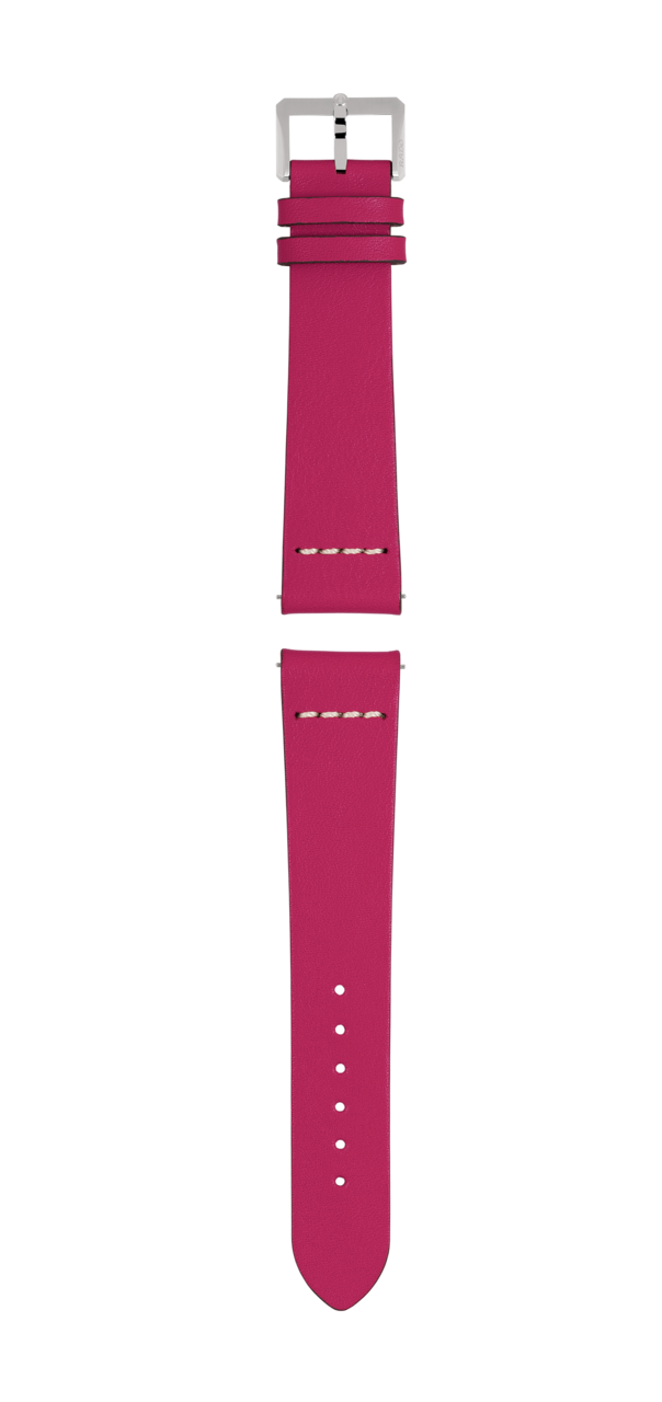 Pink leather strap