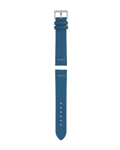 Blue leather strap